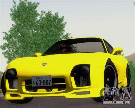 Mazda RX-7 FD3S A-Spec para GTA San Andreas vista traseira