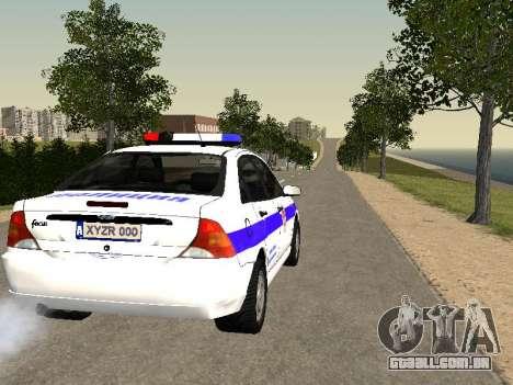Ford Focus Polícia Nizhny Novgorod região para GTA San Andreas vista direita