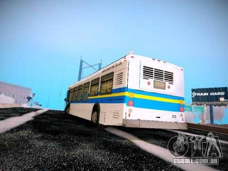 NewFlyer D40LF TransLink Vancouver BC para GTA San Andreas traseira esquerda vista