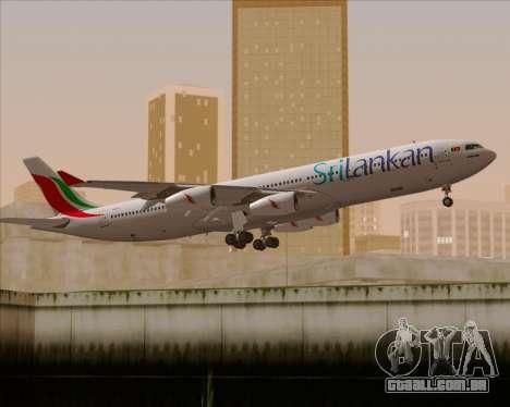 Airbus A340-313 SriLankan Airlines para o motor de GTA San Andreas
