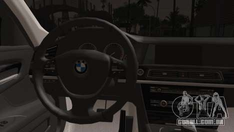 BMW 760 para GTA San Andreas traseira esquerda vista