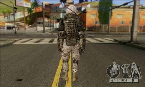 Task Force 141 (CoD: MW 2) Skin 3 para GTA San Andreas segunda tela