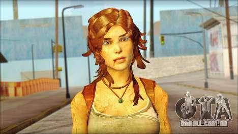 Tomb Raider Skin 7 2013 para GTA San Andreas terceira tela