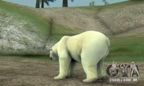Polar Bear (Mammal) para GTA San Andreas por diante tela