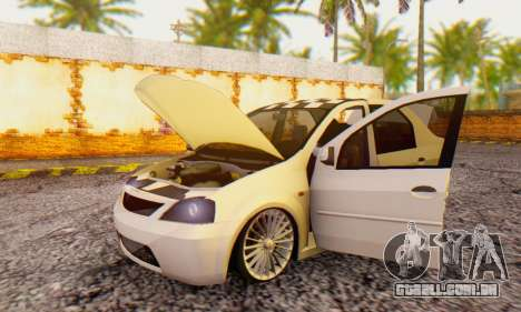 Dacia Logan ZYCU para GTA San Andreas vista traseira