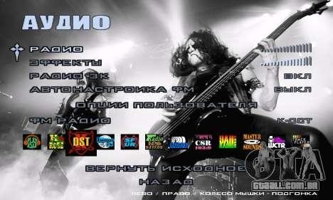 Metal Menu - Immortal (Live) para GTA San Andreas quinto tela