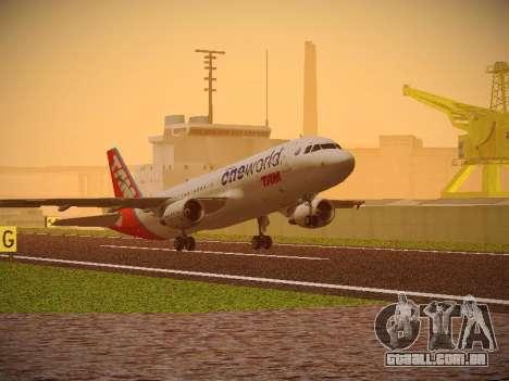 Airbus A320-214 TAM Oneworld para GTA San Andreas