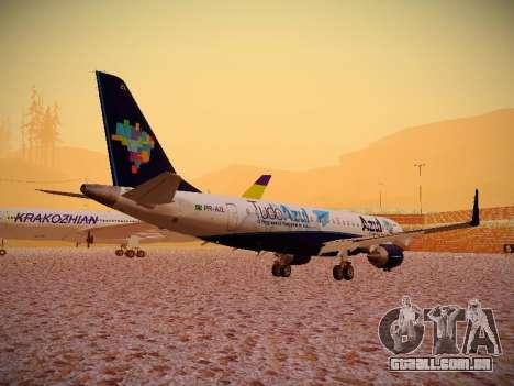 Embraer E190 Azul Tudo Azul para GTA San Andreas vista direita