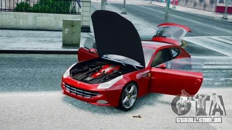 Ferrari FF para GTA 4 traseira esquerda vista