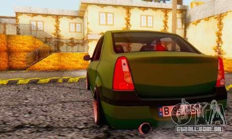 Dacia Logan MOR para GTA San Andreas vista direita