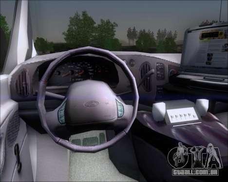 Ford E-150 Labocar para GTA San Andreas vista interior