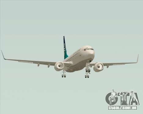 Boeing 737-800 Air New Zealand para GTA San Andreas vista superior