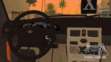 ESTES 2106 Hobo para GTA San Andreas traseira esquerda vista