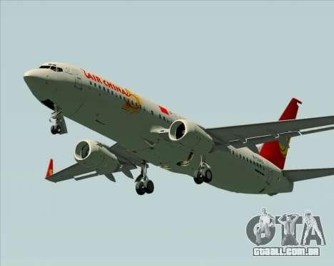 Boeing 737-89L Air China para vista lateral GTA San Andreas