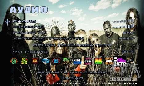 Metal Menu - Slipknot para GTA San Andreas sexta tela