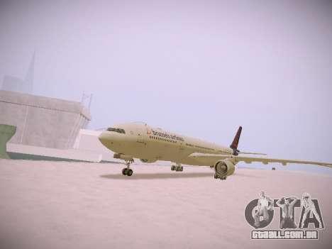 Airbus A330-300 Brussels Airlines para GTA San Andreas esquerda vista