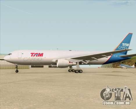 Boeing 767-300ER F TAM Cargo para o motor de GTA San Andreas