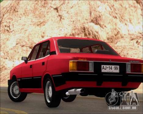 Chevrolet Opala Diplomata 1987 para vista lateral GTA San Andreas