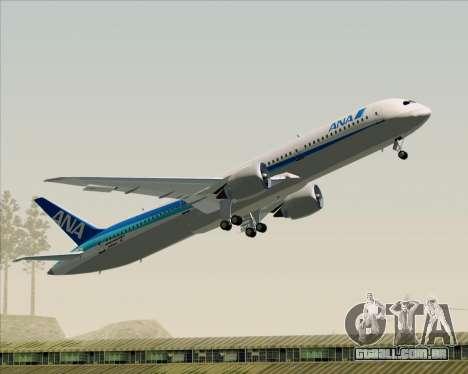 Boeing 787-9 All Nippon Airways para GTA San Andreas interior