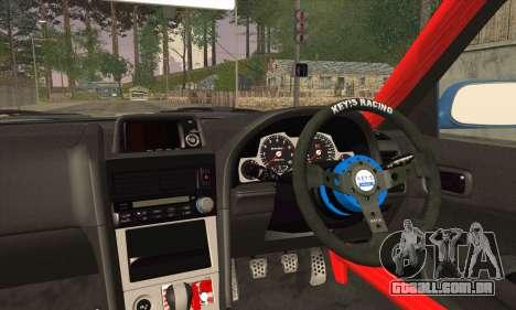 Nissan Skyline GTR34 para GTA San Andreas traseira esquerda vista