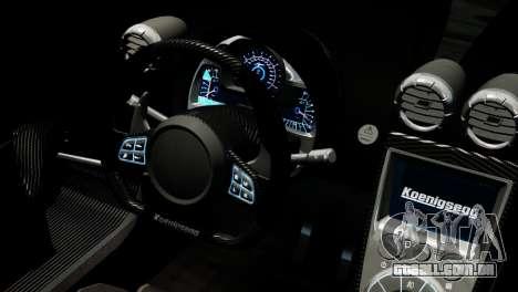Koenigsegg Agera R 2013 PJ4 para GTA 4 vista direita