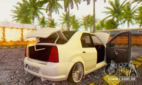 Dacia Logan ZYCU para GTA San Andreas vista direita