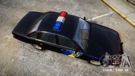 Vapid Police Cruiser LSPD Generation [ELS] para GTA 4 vista direita