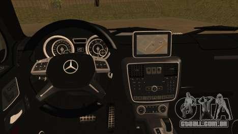 Mercedes-Benz G65 AMG para GTA San Andreas traseira esquerda vista