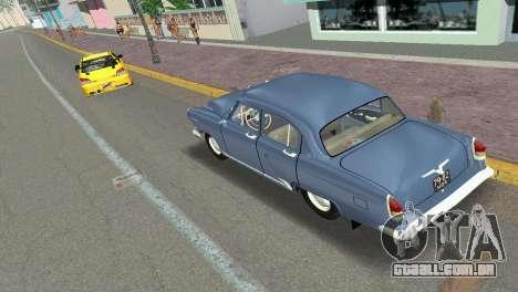 GAZ-21R Volga 1965 para GTA Vice City vista traseira