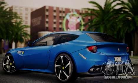 Ferrari FF 2012 para GTA San Andreas traseira esquerda vista
