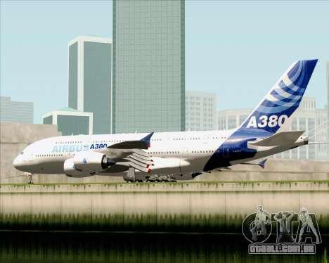 Airbus A380-861 para GTA San Andreas vista direita