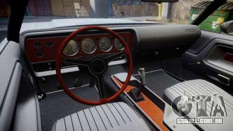 Dodge Challenger 1971 v2.2 PJ6 para GTA 4 vista de volta
