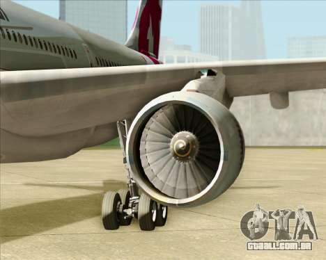 Airbus A330-300 Qatar Airways para GTA San Andreas vista interior