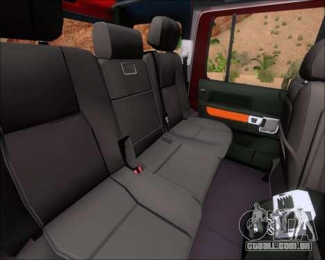 Land Rover Discovery 4 para GTA San Andreas interior