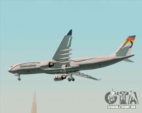 Airbus A330-300 Fly International para GTA San Andreas vista interior