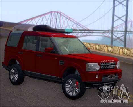 Land Rover Discovery 4 para GTA San Andreas vista direita