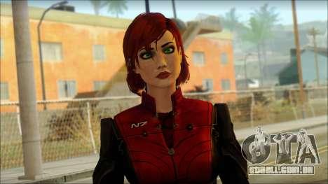 Mass Effect Anna Skin v3 para GTA San Andreas terceira tela