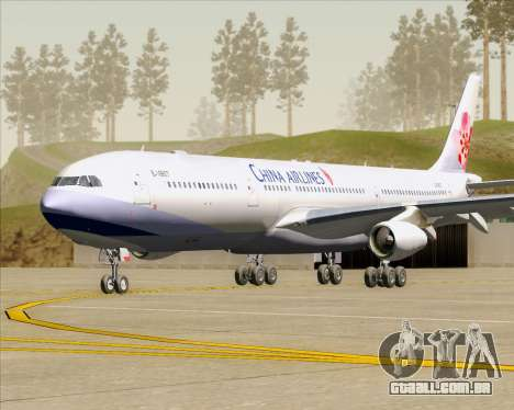 Airbus A340-313 China Airlines para GTA San Andreas esquerda vista