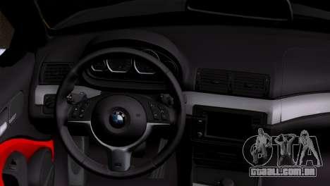BMW M3 E46 Cabrio para GTA San Andreas traseira esquerda vista