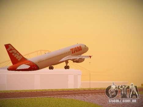 Airbus A320-214 TAM Airlines para GTA San Andreas vista traseira