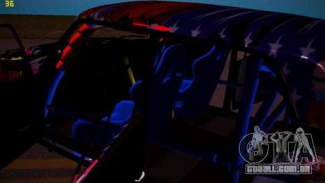 VAZ 2105 Deriva para vista lateral GTA San Andreas