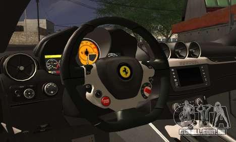 Ferrari FF 2012 para GTA San Andreas vista interior