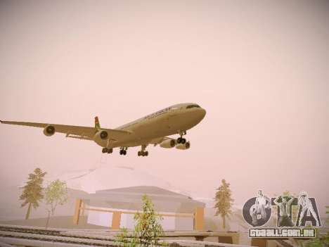 Airbus A340-300 South African Airways para GTA San Andreas vista direita