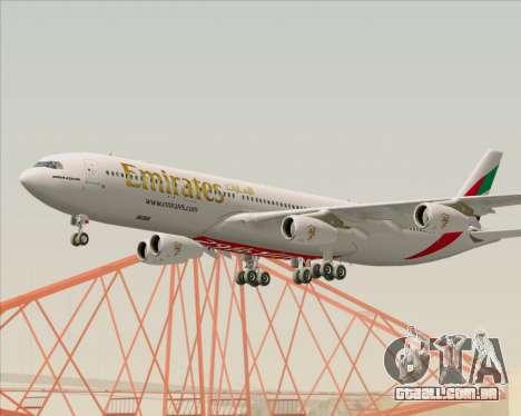 Airbus A340-313 Emirates para GTA San Andreas vista interior