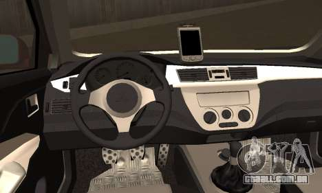 Mitsubishi Lancer Evo 8 para GTA San Andreas traseira esquerda vista