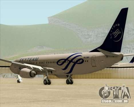Boeing 737-86N Garuda Indonesia para GTA San Andreas traseira esquerda vista