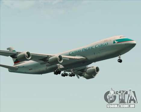 Boeing 747-8 Cargo Cathay Pacific Cargo para GTA San Andreas vista superior