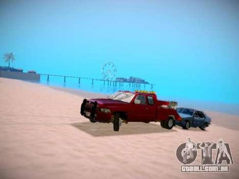 Dodge Ram Tow-Truck para GTA San Andreas vista traseira