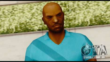 Blue Shirt Vic para GTA San Andreas terceira tela