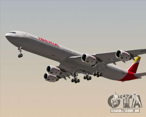 Airbus A340-642 Iberia Airlines para GTA San Andreas vista direita